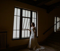 By Lillian West wedding gown