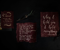 Plum wedding invitation