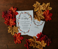 Fall wedding invitations