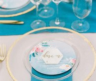 Blue wedding decor
