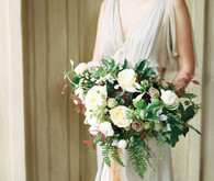 Romantic white and green bridal bouquet