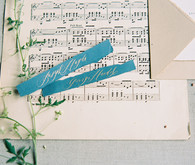Music themed wedding