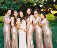 Gold sequin bridesmaid dresses