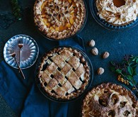 Thanksgiving pie table