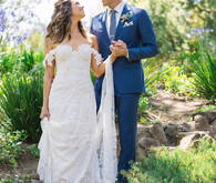 Crocheted wedding dress
