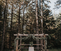 Rustic forest ceremony