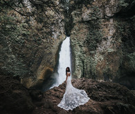 Waterfall wedding portraits
