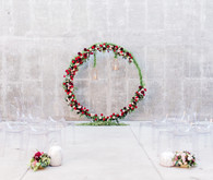Large floral wreath
