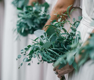 Green bridesmaid bouquet