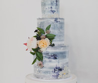 Modern winter wedding cake