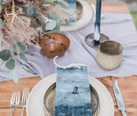 Indigo coastal wedding inspiration