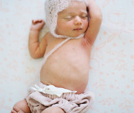 cozy winter newborn photos