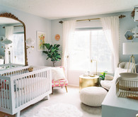 cozy feminine girl's nursery