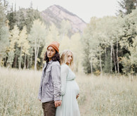 Boho rustic maternity photos
