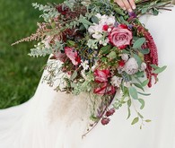 Bohemian bridal bouquet