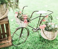 vintage bike and flowers