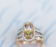 Yellow stone wedding ring