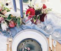 Blue and red wedding ideas