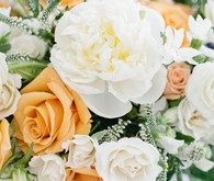 peach and white florals