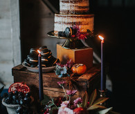 Rustic dessert table