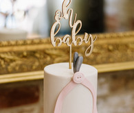 Elegant winter gender neutral baby shower