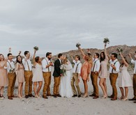 DIY desert wedding