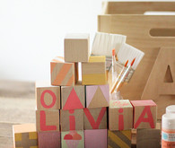 DIY painted blocks