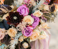 Purple and plum bridal bouquet