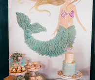 Mermaid 5th birthday party for Lucca Valentine