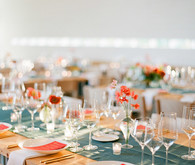 Modern wedding reception decor