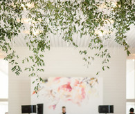 Modern wedding decor