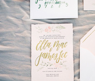 Gold wedding calligraphy