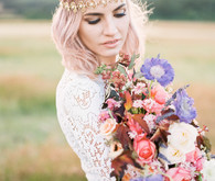 Romantic bridal fashion