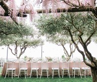 Pink reception table