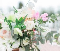 Romantic garden wedding flowers