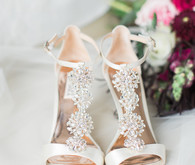 Bagdley Mischka bridal shoes
