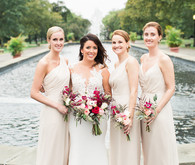 Modern bridesmaids portrait