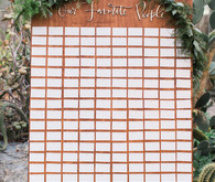 Modern romantic seating chart