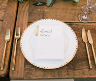 Romantic gold place setting