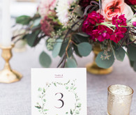 Romantic table numbers