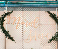 Romantic wedding signage