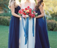 Navy bridesmaids portrait