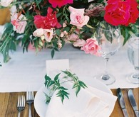Romantic red place setting