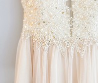 Beaded wedding gown