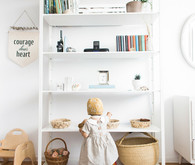 Modern wood and white nursery