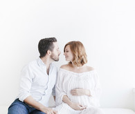 White studio maternity photos