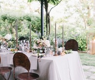 Romantic Tuscan Villa wedding table