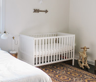 rustic white boy's nursery