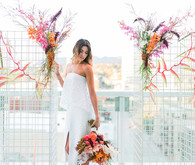 Modern C/Meo wedding dress