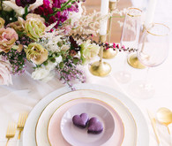 Valentine's Day place setting